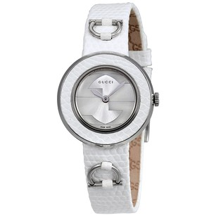 Gucci Gucci Silver Dial Leather Ladies Watch