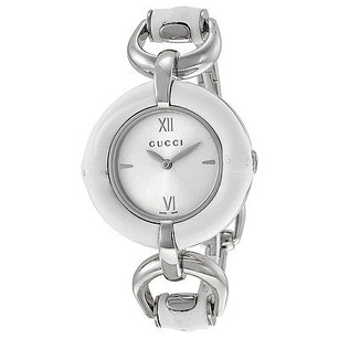Gucci Gucci Silver Dial White Bamboo Stainless Steel Ladies Watch