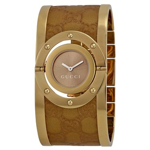 Gucci Gucci Twirl Brown Dial Gold-tone Stainless Steel Watch