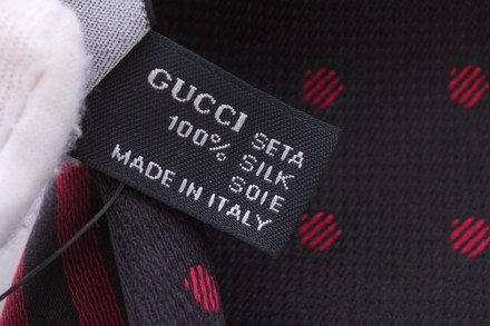 Gucci GUCCI TWO FACED SILK TUXEDO SCARF NWOT