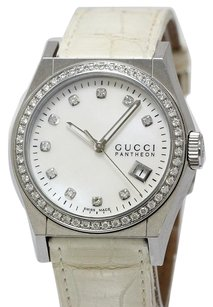 Gucci Gucci White Leather Women's Watches