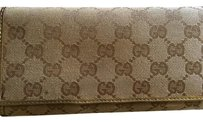 Gucci Guccissima GG Supreme Canvas Snap Open Wallet with Charm