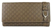 Gucci Guccissima Leather Continental Clutch Wallet Spur Detail 309754 2527
