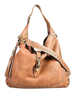 Gucci Grained Leather Hobo Bag