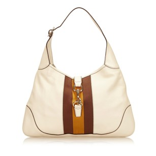 Gucci Ivory Leather Multi 6jgush019 Shoulder Bag