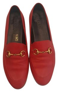 Gucci Jordaan Brixton Loafers Hibiscus Red Flats