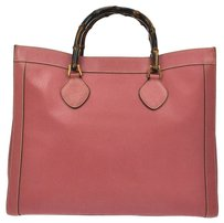 Gucci Jumbo Xl Hand Tote in Pink, Brown