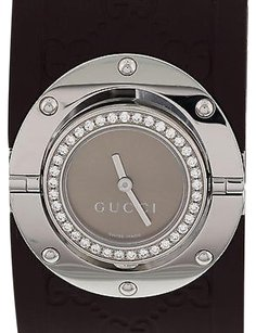 Gucci Ladies Gucci Twirl Stainless Steel Diamonds 112