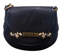 Gucci Leather Gold Hardware Gold Cross Body Bag