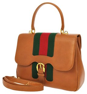 Gucci Logos Bamboo 2way Hand Satchel in Brown