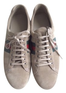 GUCCI MEN SUEDE SNEAKERS SIZE 10 1/2 Tan Athletic