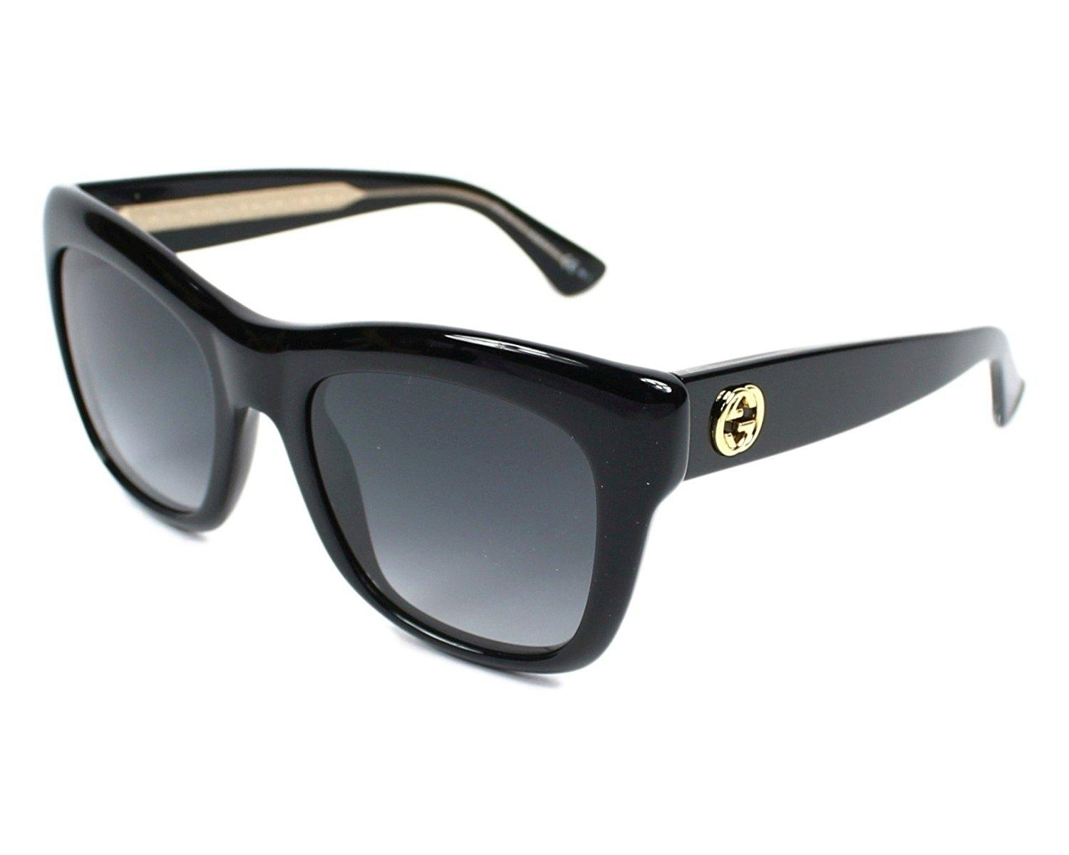 6bb9ee0dca Gucci new oversized black cat eye sunglasses gold metal logo jpg 440x352  Gucci logo gold sunglass