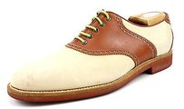 Gucci Mens Shoes 44.5 Leather Spectator Oxfords 1116024 Tan Brown