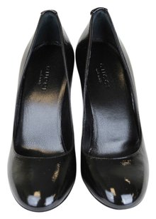 Gucci Patent Leather Wedge Pump Black Wedges