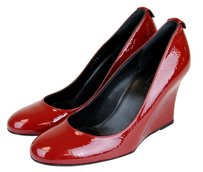 Gucci Patent Leather Wedge Red Wedges