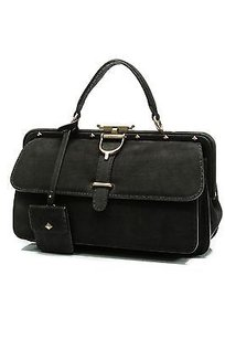 Gucci Suede Lady Satchel in Black