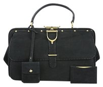 Gucci Doctor Lady Stirrup Satchel in Black