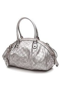 Gucci Satchel in Metallic silver