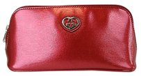 Gucci Shiny Leather Red Clutch