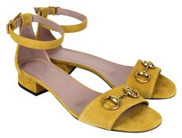 Gucci Suede Horsebit Sandal With Nectarine Sandals