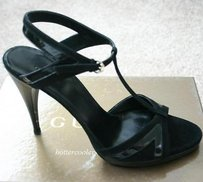 Gucci Suedepatent Leather Blacks Sandals