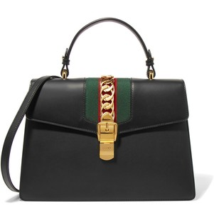 Gucci Sylvie Shoulder Business Tote in Black