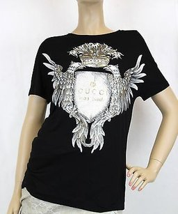 Gucci Womens T Shirt Top Black