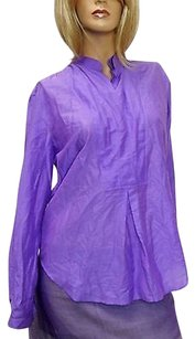 Gucci Cottonsilk Shirt Top Purple