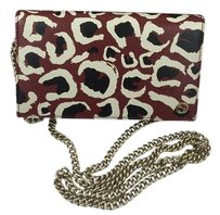 Gucci Wallet On Chain Red Leopard Clutch
