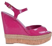 Gucci Wedge Pink Wedges