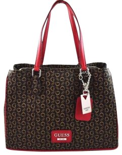 Guess Globes Natural Tote in Brown