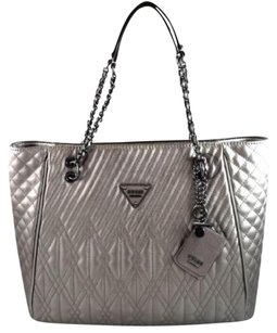Guess Eddie Pewter Tote in Gray