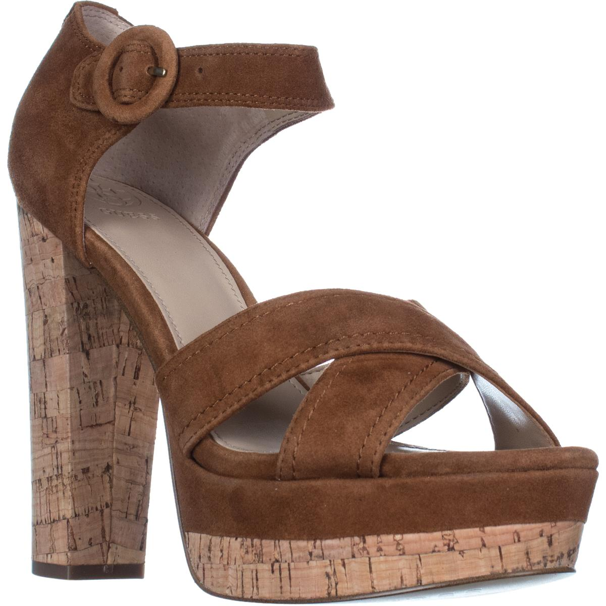 d0b165474515e Guess Brown Parris Parris Parris Platform Ankle Strap Sandals Dark Natural  Pumps Size US 9.5 Regular (M