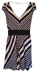 Guess short dress Navy and Cream Striped on Tradesy