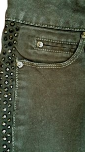 Guess Embellidhed Rhinestone Jean Straight Pants Black