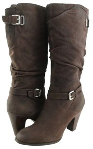 GUESS Magy Leather Dark Brown Boots