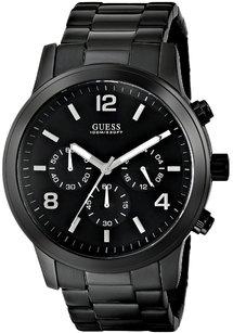 Guess GUESS Men's U15061G1 Black Ion-Plated Chronograph Watch