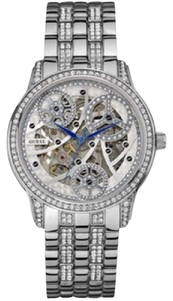 Guess SILVER-TONE ELEGANT AUTOMATIC WATCH