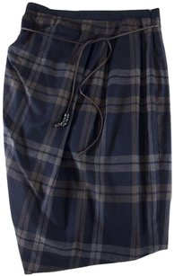 Gunex For Brunello Cucinelli 10 Plaid Lk Skirt