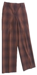 Gunex Italy Italian Wool Spandex Slacks Dressy Stretchy Trouser Pants Brown