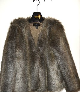 H&M Fur Fashion Military Jacket
