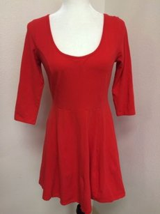 H&M Hm Tomato Stretch Cotton Dress