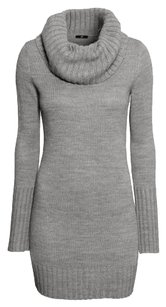 H&M short dress Gray Sweater Cowl Neck Warm on Tradesy
