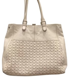 H&M Leather Tote in White