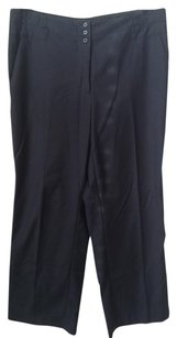 H&M Wide Leg Pants BLACK TUXEDO WIDE LEG WORK PANTS 10