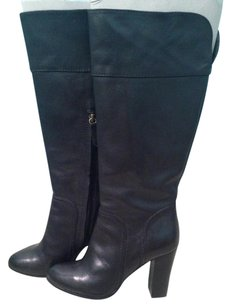 Halogen Leather BLACK LEATHER Boots