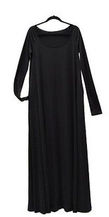Black Maxi Dress by Halston Long Sleeve