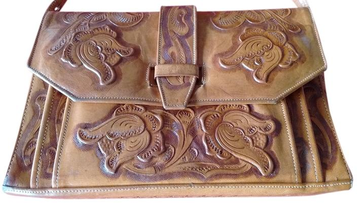 Hand Tooled Leather Stamped Ethel