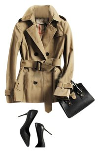 Other Double Breasted Belted Trench Coat