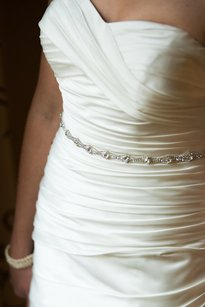 Other Handmade Bridal Sash Rhinestone Sash Wedding Dress Sash Crystal Belt Embellishment Applique Thin Trim